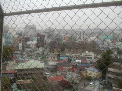 千葉市内が一望。マンションばっかだ。