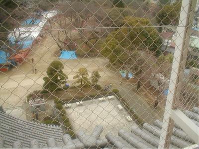 見下ろしたときに見えた光景が、この前の大阪城の時に見た光景とそっくりだったのが笑えた。どこも城というのはそういうものなんだな。