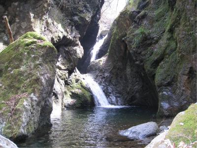 下から川沿いに上がっていくとちょっとわかりにくいかも。でもこの滝も一見の価値ありなので、スルーしないで見ておきましょう。